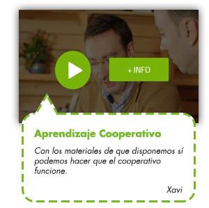 Aprendizaje Cooperativo. Con los materiales de que disponemos sí podemos hacer que el cooperativo funcione. Xavi.