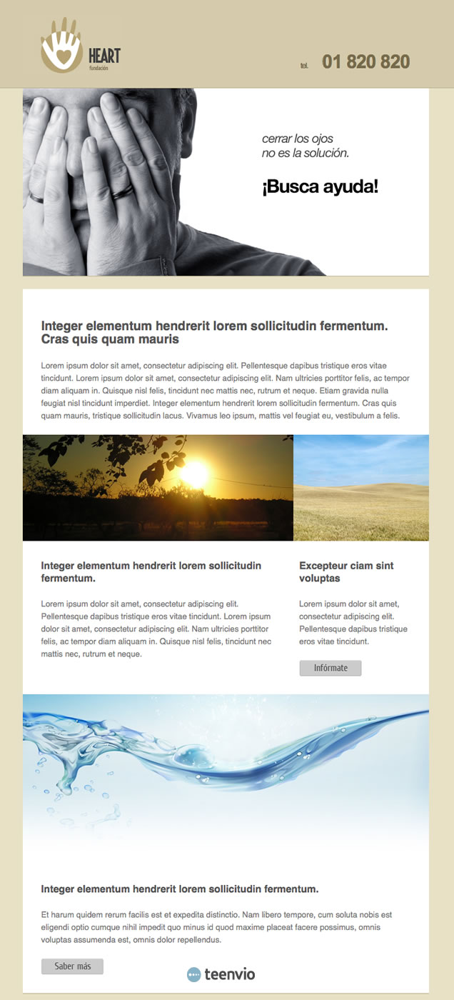 Fundación, plantilla HTML para Newsletter en email marketing