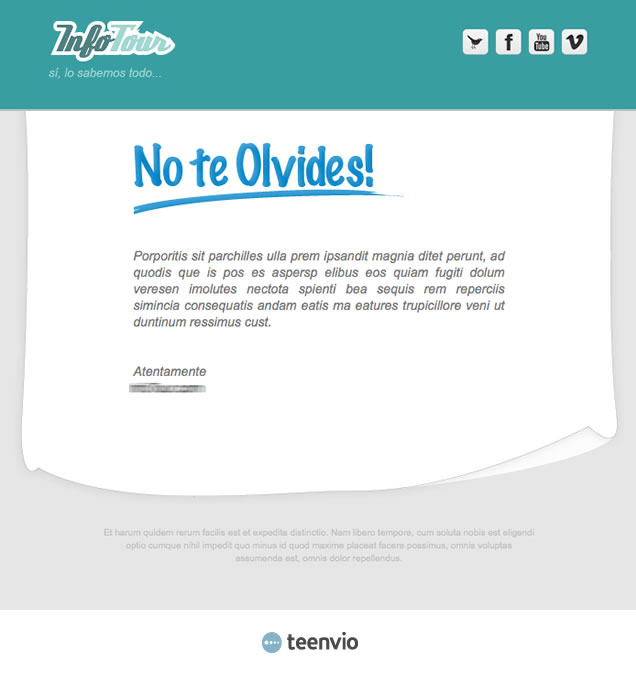 Plantilla Newsletter gratuita, Evento, para tus campañas de email marketing