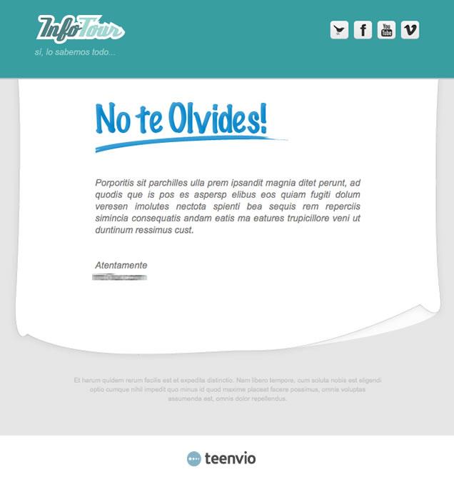 Plantilla Newsletter gratuita, Evento, para tus campañas de email marketing