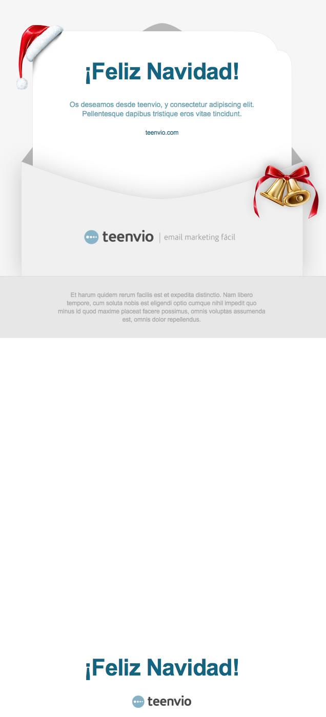 Feliz Navidad, plantilla para Newsletter HTML en email marketing