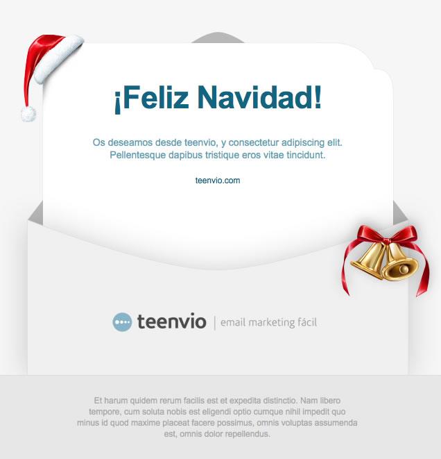 Feliz navidad plantilla para newsletter html en email - Frases de felicitacion por navidad ...