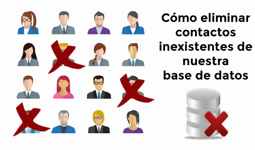 Cómo eliminar contactos de nuestra base de datos